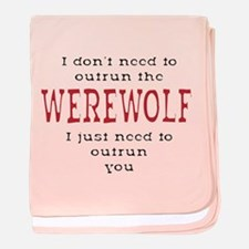 Outrun The Werewolf 3 baby blanket