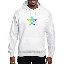 Nonbinary transgender rainbow pentagram Hoodie