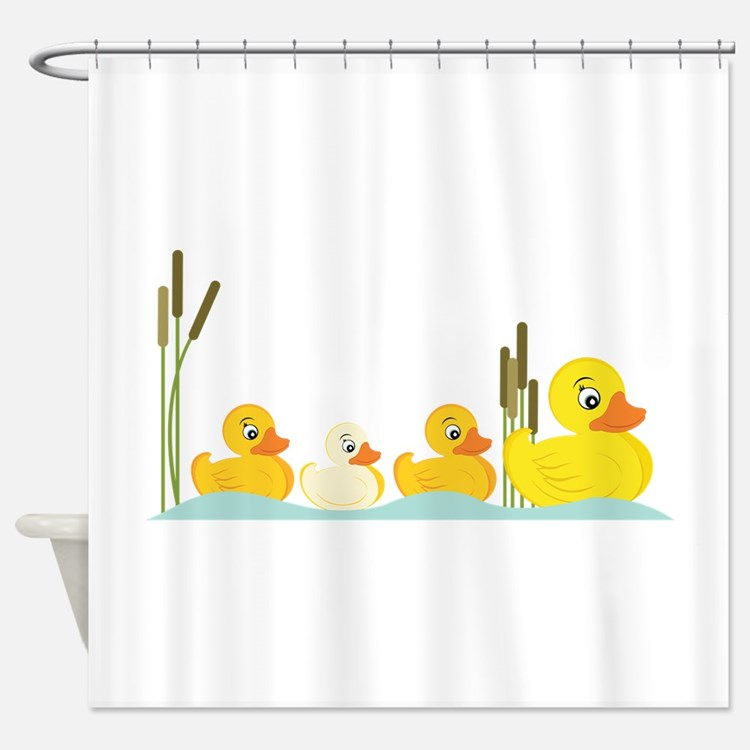 Rubber Ducky Shower Curtains   Rubber Ducky Fabric Shower Curtain ...