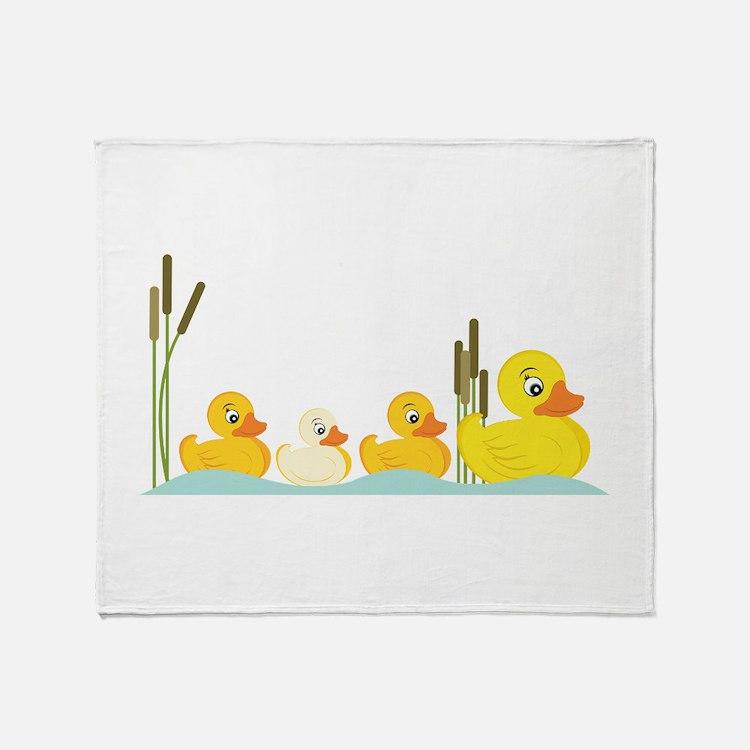 Ducky Family Throw Blanket