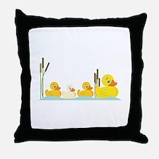 Ducky Family Throw Pillow