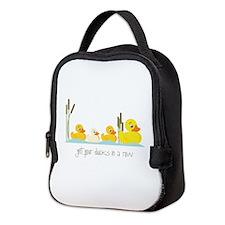 In A Row Neoprene Lunch Bag
