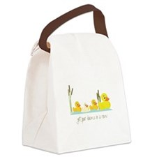 In A Row Canvas Lunch Bag