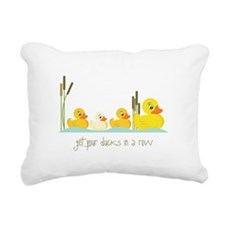 In A Row Rectangular Canvas Pillow