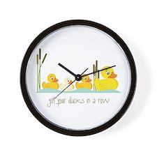 In A Row Wall Clock