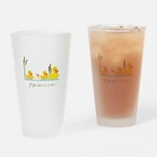 In A Row Drinking Glass