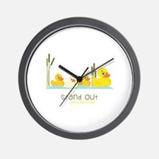 Stand Out Wall Clock