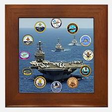 US Navy Nuclear Carrier Fleet Framed Tile