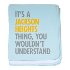 Jackson Heights Queens NY Thing baby blanket
