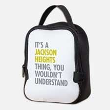 Jackson Heights Queens NY Thing Neoprene Lunch Bag