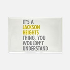 Jackson Heights Queens NY Thing Rectangle Magnet