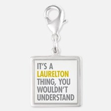 Laurelton Queens NY Thing Silver Square Charm