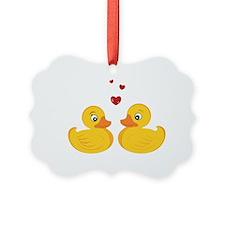 Love Ducks Ornament
