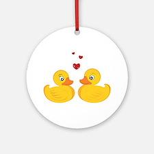 Love Ducks Ornament (Round)