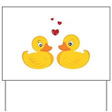 Love Ducks Yard Sign