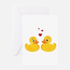 Love Ducks Greeting Cards