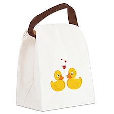 Love Ducks Canvas Lunch Bag