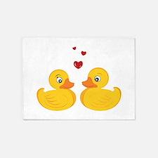 Love Ducks 5'x7'Area Rug
