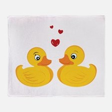 Love Ducks Throw Blanket