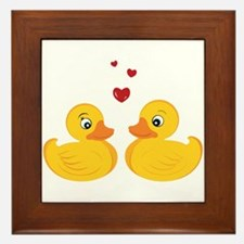 Love Ducks Framed Tile