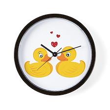 Love Ducks Wall Clock