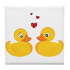 Love Ducks Tile Coaster