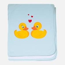 Love Ducks baby blanket