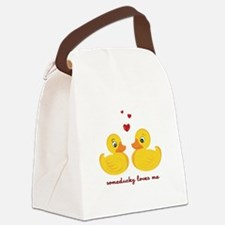 Someducky Loves Me Canvas Lunch Bag