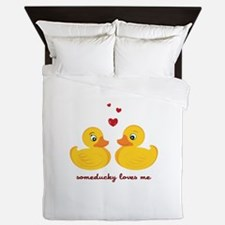 Someducky Loves Me Queen Duvet