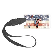 Patriotic Captain America Luggage Tag