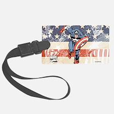 Patriotic Captain America Luggage Tag