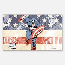 Patriotic Captain America Decal