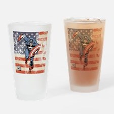 Patriotic Captain America Drinking Glass