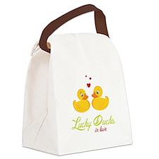 Lucky Ducks Canvas Lunch Bag
