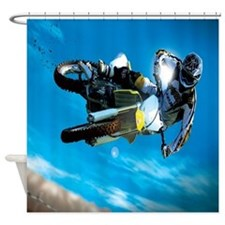 Motocross Side Trick Shower Curtain