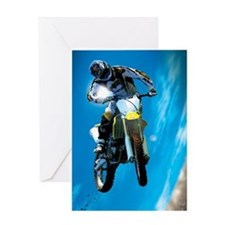 Motocross Side Trick Greeting Cards