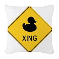 Duck Xing Woven Throw Pillow
