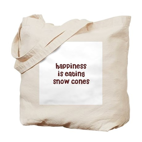 happiness is eating snow cone Tote Bag