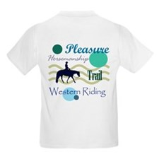 All around western in blue T-Shirt