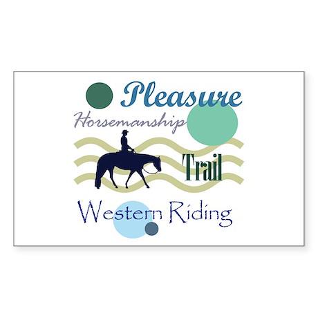All around western in blue Rectangle Sticker