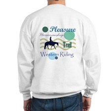 All around western in blue Sweatshirt