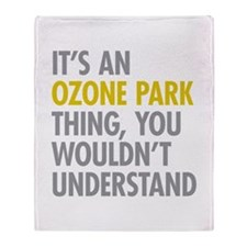 Ozone Park Queens NY Thing Throw Blanket