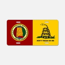 Alabama Gadsden Flag Aluminum License Plate