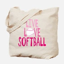 Live, Love, Softball Tote Bag
