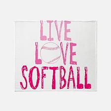 Live, Love, Softball Throw Blanket