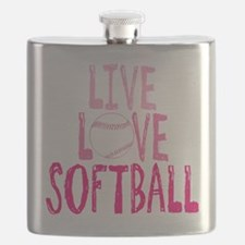 Live, Love, Softball Flask