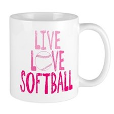 Live, Love, Softball Mugs