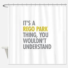 Rego Park NY Thing Shower Curtain