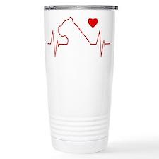 Cane Corso Heartbeat Travel Mug