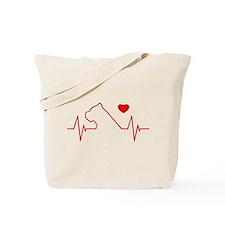 Cane Corso Heartbeat Tote Bag